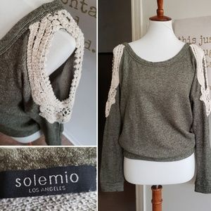 Solemio Cold Sholder Style Blouse Women's Medium
